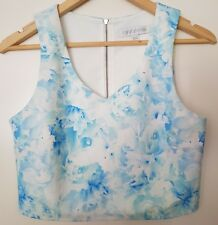 FOREVER NEW Summer Party Floral Crop Top. Size 8. NEW!