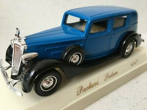 Packard Sedan - Blue & Black - Solido Age D'or 4047, Boxed