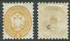 1864-65 LOMBARDO VENETO MANTOVA AQUILA 2 S D. 9 1/2 MH * - A121