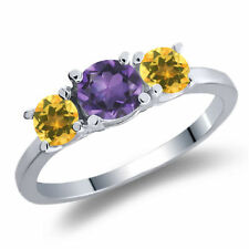 Yellow Amethyst Fine Rings