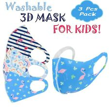 3PK Boys Girls Face Mask Kids Toddler Reusable Washable  Breathable Popular #4