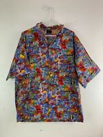 Toucan Dance by Fast Lane Hawaiian Floral Fish Coral USA Vintage Shirt Large