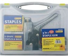3IN1 STAPLE GUN HEAVY DUTY HAND UPHOLSTERY 600PC STAPLES STAPLER CABLE BRAND NEW