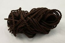 Twisted Drapery Cord - DARK BROWN - New 10 yds