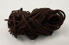 Twisted Drapery Cord - DARK BROWN - New 10 yds