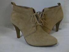 Alfani Size 6 M Carlina Cashew Leather Ankle Booties New Womens Shoes