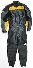 Neuwertige HEIN GERICKE Gr. 34 Zweiteiler Lederkombi schwarz gelb Leather Suit