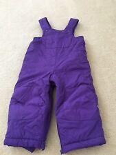 Toddler girls size 18 months Ski snow bib winter overall snow pants purple