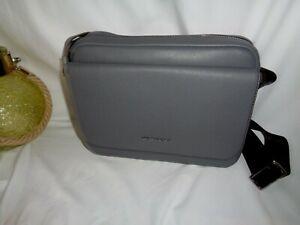Michael Kors Cooper Flap Camera Bag Greyhound Leather Messenger Travel Flight