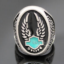 Vintage Silver Guardian Angel Wing Feather Turquoise Zuni Band Finger Ring W 7