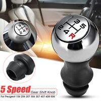 5 Speed Manual Gear Shift Stick Knob For Peugeot 106 206 207 306 307 Aluminum
