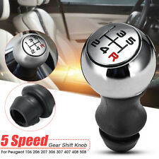 5 Speed Manual Gear Shift Stick Knob For Peugeot 106 206 207 306 307 Aluminum