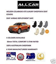 Sheepskin Car Seatcovers for Holden Colarado , 5 colours, Seat Airbag Safe 30mm