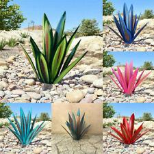 Metal Art Tequila Rustic Sculpture 9 Leaves Garden Yard Plants For Outdoor Patio