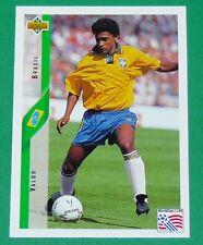 RARE FOOTBALL CARD UPPER DECK 1994 USA 94 VALDO AURIVERDE BRESIL BRASIL
