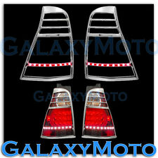 03-09 TOYOTA 4RUNNER 4 RUNNER Taillight Tail Light Lamp trim Bezel+RED LED Cover