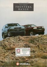 Vauxhall Frontera 1993 UK Market 12pp Sales Brochure 2.0 Sport 2.4i 2.3 TD