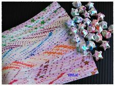 140 strips Origami Folding Kit Paper Shiny Bright Lucky Wishes Star 19x0.7 cm.
