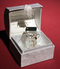 More details for crystal glass owl gilded in 22kt gold graduation poem inside box, keepsake