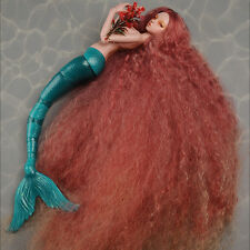 "[DM] MSD Wig 7-8 inch 18-20cm 1/4 BJD (7-8)"""" Stardust Mermaid Wig (Red)"