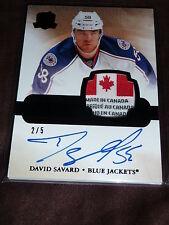 11-12 The Cup David Savard Rookie Auto Black Laundry Tag 2/5 CANADA Rare RC