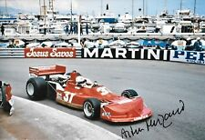 Arturo Merzario firmato 12x8 Team Merzario March 761B, MONACO GRAND PRIX 1977