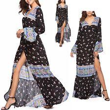 Vestito Lungo Maxi Copricostume Donna Woman Flower Maxi Spring Dress 110347 P