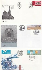 SOUTH AFRICA 10 UNADDRESSED FIRST DAY COVERS LOT 2 WITH INSERTS