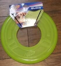 NEW Nerf Dog Glow Frisbee Rubber large 10'' Disc Flyer Neon Green
