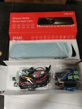 Spade A2000 Stream Media Mirror Dash Cam New In Opened Box