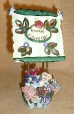 Blue Sky Heather Goldminc Candle Votive Holder Heather's Flower Cart Stand