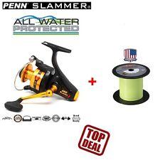 Penn Slammer 460 + 300m Berkley NANOFIL 0,25mm    Waller Heilbut Dorsch