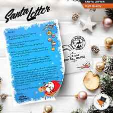 Letter from Santa Claus personalised printed on quality materials Christmas new