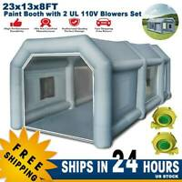 23x13x8FT w/ Blower Inflatable Booth Paint Tent Portable Depot Workshop Parking