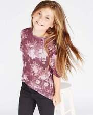 T-shirts et débardeurs à motif Floral col rond pour fille de 2 à 16 ans