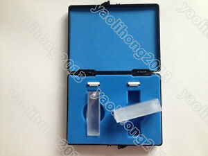 Hot 2pcs standard JGS1 quartz cuvettes cuvette cell open top with lid10mm 3.5mlN