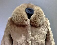 Real Fox Collar and Fur Ladies Jacket Size: Small Brand New