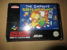 SNES The Simpsons Bart's Nightmare Pal Boxed