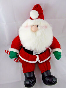 "First & Main St Nick Santa Claus 16"" Plush Menagerie Collection Stuffed Animal"
