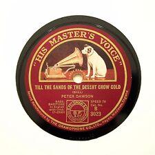 """PETER DAWSON """"Till The Sands Of The Desert Grow Cold"""" (E+) HMV B-3023 [78 RPM]"""