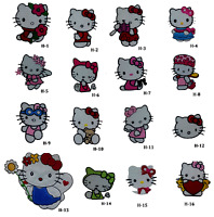 Hello kitty iron sew on embroidered patch cute cat kitten badge