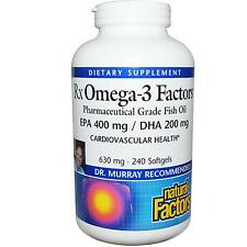 Natural Factors Rx OMEGA-3 Fish Oil 400mg EPA/200mg DHA - 240 caps VALUE SIZE