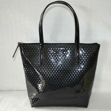Kate Spade Tote Black Faux Patent Satchel Jeralyn Beale Street Handbag Purse