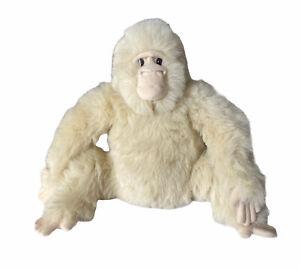 "Dakin Applause Papa Grillo Gorilla Plush Stuffed Animal White 24345 14"""