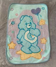 Care Bears Plush Blanket Throw Bedtime Cheer Funshine Bear Squares Star Moon