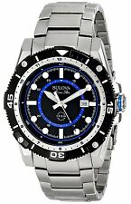 Bulova Men's 98B177 Marine Star Quartz Black and Blue Dial Stainless Steel Watch