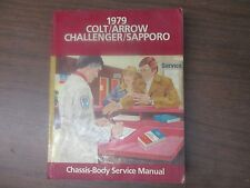 1979 COLT/ARROW CHALLENGER/SAPPORO CHASSIS-BODY SERVICE MANUAL