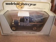 Orig Matchbox Models of Yesteryear Y3 1912 Ford Model T Express Dairy 1978 MIB