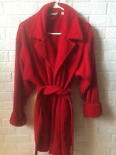 VICTORIA'S SECRET red Plush Terry Cloth Spa Robe xs/s women's