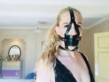 PVC Noir Muzzle gag-, Panel- Ballgag, Ball Gag, Brillant, Vegan